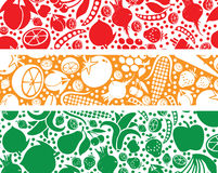 Fruits and vegetables pattern illustration. Royalty Free Stock Image