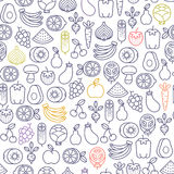 Fruits and vegetables pattern Royalty Free Stock Images
