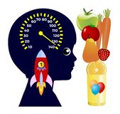 Healthy food for children royalty free illustration
