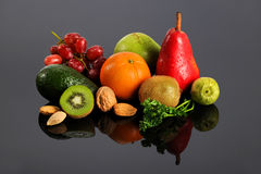 Fruits and Vegetables With Reflection Royalty Free Stock Image
