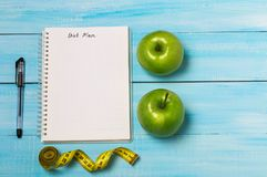 Fruits and vegetables on rustic wooden backround with space for text. Healthy eating, dieting, slimming and weigh loss concept. Ve Royalty Free Stock Photos