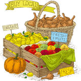 Fruits and Vegetables for Sale. Royalty Free Stock Photography