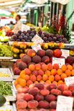 Fruits and vegetables for sale at local market in Poland. Stock Images