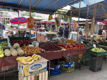 Fruits and vegetables for sale at the market Royalty Free Stock Images