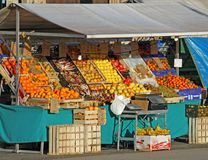 Fruits and vegetables for sale Royalty Free Stock Photos