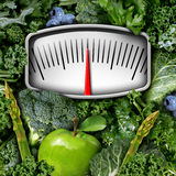 Fruits and Vegetables Scale Stock Photos