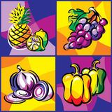 Fruits and vegetables set Royalty Free Stock Photography
