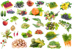 Fruits and vegetables set Stock Image