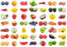 Fruits and Vegetables set Royalty Free Stock Image