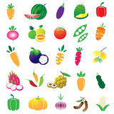 Fruits and Vegetables set Stock Photos