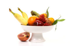 Fruits and vegetables, with shallow focus. Composition of several fruits and vegetables stock image