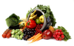 Fruits and vegetables, with shallow focus Royalty Free Stock Photography