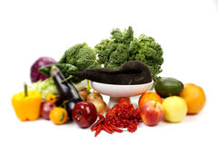 Fruits and vegetables, with shallow focus Royalty Free Stock Image