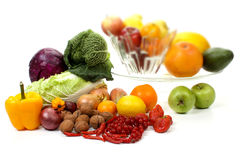 Fruits and vegetables, with shallow focus Stock Photo