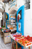 Fruits And Vegetables Shop Sperlonga. SPERLONGA, LAZIO, ITALY - MAY 30, 2016: Frutta E Verdura Sorelle Poco Poco, old typical fruits and vegetables shop in the Royalty Free Stock Photos