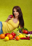 Fruits and vegetables shopping Stock Images