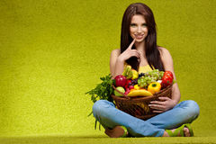 Fruits and vegetables shopping Stock Photo