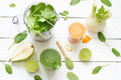 Fruits, vegetables, smoothie, blender, abstract health diet lifestyle Royalty Free Stock Images