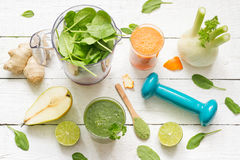 Fruits, vegetables, smoothie, blender, abstract health diet lifestyle Stock Photo