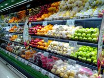 Fruits and vegetables sold in a grocery store Stock Photography