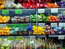 Fruits and vegetables sold in a grocery store Royalty Free Stock Photography