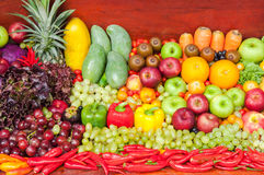 Fruits and Vegetables Still life Art. Design stock image
