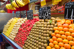 Fruits and vegetables in street market. Fruits and vegetables in Spanish street market Royalty Free Stock Images