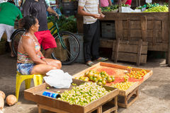 Fruits and vegetables at street market in Belem do Para, Brazil Royalty Free Stock Photography