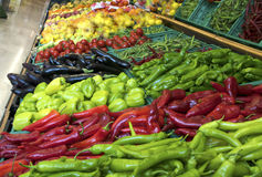 Fruits and vegetables on a supermarket Royalty Free Stock Photo
