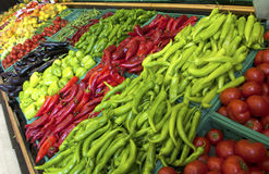 Fruits and vegetables on a supermarket Stock Photography