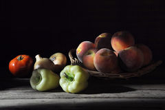 Fruits and vegetables on the table Stock Photos