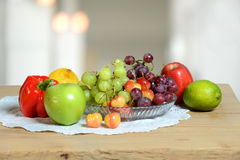 Fruits and Vegetables on Table Royalty Free Stock Photography