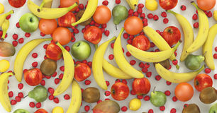 Fruits and vegetables, tropical, food, render 3d illustration Royalty Free Stock Photography