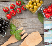 Fruits, vegetables and utensils Stock Photo