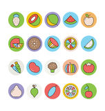 Fruits and Vegetables Vector Icons 4 Royalty Free Stock Image