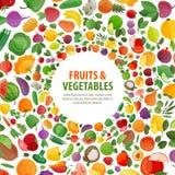 Fruits, vegetables vector logo design template Stock Images