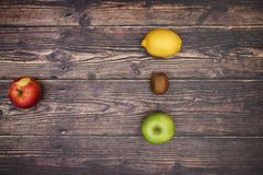 Fruits and vegetables - Vegetarian and healthy food.  royalty free stock photos