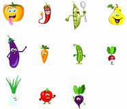Fruits and vegetables. Very funny fruits and vegetables Royalty Free Stock Photos