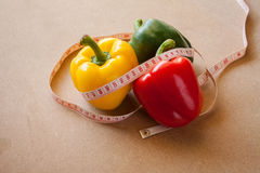 Fruits, vegetables, weight loss, and health care Stock Photo