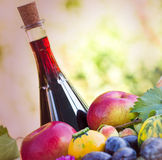 Fruits, vegetables and wine Royalty Free Stock Images