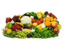Fruits & Vegetables XXL. Healthy Eating series: Fruits & Vegetables assortment Stock Photo