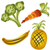 Fruits and Veggies Stock Image