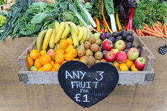 Fruits and veggies Stock Images