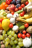 Fruits versus vegetables Royalty Free Stock Image