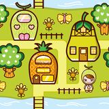 Fruits Village Royalty Free Stock Images
