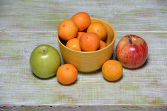 Fruits on Vintage Table Royalty Free Stock Image
