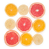 Fruits with Vitamin C. Isolated on white Royalty Free Stock Image