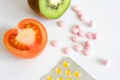 Fruits and vitamins Stock Photo