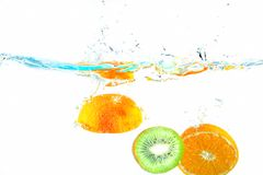 Fruits in the water Royalty Free Stock Photography