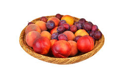 Fruits in wattled basket Royalty Free Stock Photo